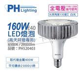 PHILIPS飛利浦 LED 160W 6500K 白光 130度 E40 全電壓 IP40 天井燈專用燈泡 _ PH520403