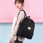 2020新防水尼龍布雙肩包~後背包 複古韓版書包女大學生拼接大容量旅行背包(mylove中大尺碼)