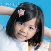 Cutie Bella亮片星星全包布手工髮夾-Star Sequin-Peach