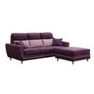 【采桔家居】瑪斯可 時尚亞麻布L型獨立筒沙發組合(三人座+椅凳)
