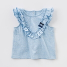 無袖上衣 Dave Bella 小童 大童 水藍荷葉滾邊蝴蝶結無袖上衣 T恤 棉T T-Shirt DB7522