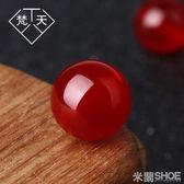 DIY水晶材料 10顆裝紅玉髓天然散珠半成品飾品配飾diy水晶手工串珠手鏈 米蘭shoe