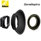 又敗家Nikon原廠DK-22方形轉圓形轉接座+多尼爾DK2217+尼康DK-3橡膠眼罩適D7100 D7000 D300S D300 D200S D200 D5400