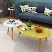 茶几簡約現代客廳小戶型實木小圓桌子迷你櫸木圓形陽台小茶几北歐XW(萬聖節)