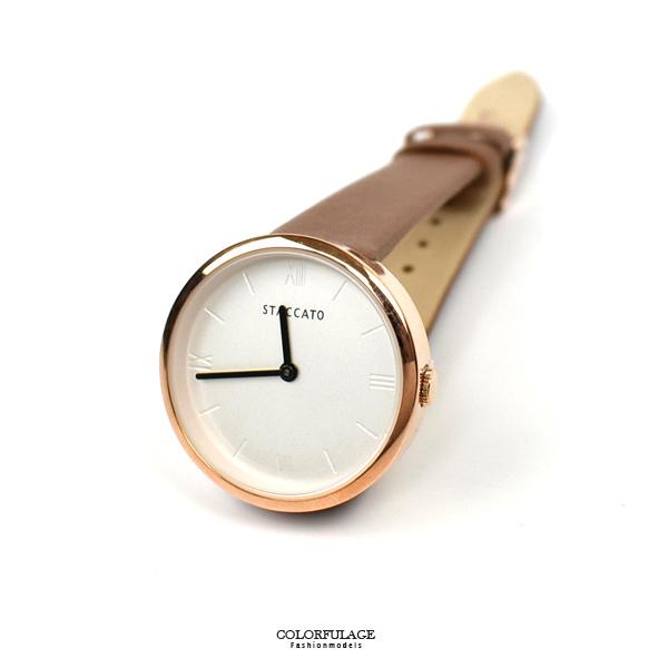 手錶 STACCATO玫金無印腕錶NEKS11