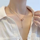 當當衣閣-高級感羅馬數字鈦鋼可調節項鏈女裝飾簡約氣質設計款鎖骨鏈潮網紅