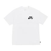 Nike 短袖T恤 SB Logo T-Shirts 白 黑 男款 短T 滑板 運動休閒 【ACS】 DC7818-100
