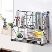 現貨創意電腦桌上書架時尚桌面書櫃兒童簡易置物架小型辦公收納架簡約