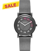 DKNY 紐約派對都會腕錶/手錶-灰黑x桃紅/34mm NY2390