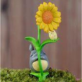 ⓒ抱向日葵龍貓微景觀 多肉植物盆栽裝飾【A025007】