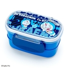 〔小禮堂〕哆啦A夢 日製塑膠雙面扣雙層便當盒《藍.文字》保鮮盒.餐盒 4901610-57941