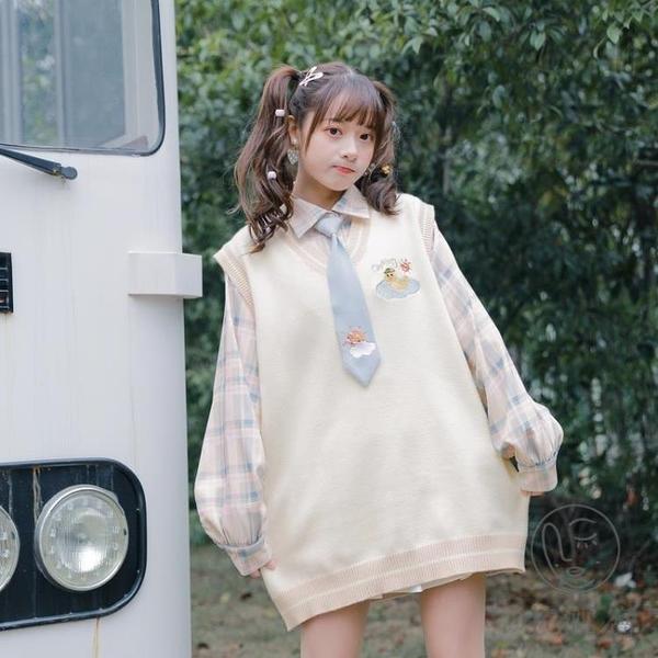 日系風格穿搭小個子馬甲套裝兩件套秋【小酒窩服飾】
