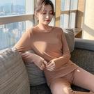 發熱衣 保暖秋衣秋褲套裝女秋冬季加絨發熱內衣圓領打底棉毛衫內穿