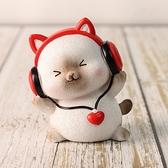 創意擺件 可愛卡通貓咪樂隊創意情侶禮物蛋糕裝飾玩偶手辦汽車桌面擺件【快速出貨八折下殺】