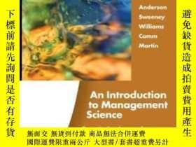 二手書博民逛書店An罕見Introduction To Management Science: Quantitative Appr