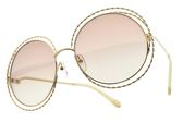 Chloe 太陽眼鏡 CE114ST 810 (金-漸層茶鏡片) 歐美金屬螺旋造型款 墨鏡 # 金橘眼鏡