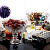 歐式現代創意客廳水晶玻璃果盤高腳簡約加厚茶幾廚房婚慶水果盤