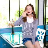 【INI FASHION】假兩件式甜美柔軟針織上衣.三色