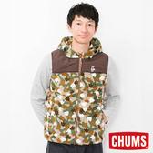 CHUMS 日本 男 Fleece Elmo 兜帽背心 腳掌迷彩 CH041079Z086