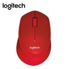 Logitech羅技 靜音無線滑鼠M331-紅【愛買】
