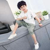 童裝男童七分褲夏2018新款韓版中大兒童純色男孩休閒褲