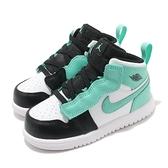 Nike 休閒鞋 Jordan 1 Mid Alt TD 蒂芬妮綠 黑 喬丹 童鞋 小童 小朋友 【ACS】 AR6352-132