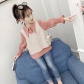 爆款熱銷女童襯衫女童洋氣襯衫套裝秋裝新款韓版女孩長袖上衣春秋兒童時尚童裝聖誕節
