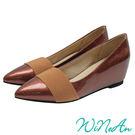 WNA-12670心機內增高鞋--古銅色...