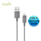 moshi Integra™強韌系列 Lightning to USB-A 耐用充電/傳輸編織線 25 CM (鈦灰) 99MO023045