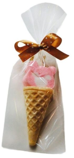 娃娃屋樂園~生日甜筒小熊-棉花糖+軟糖 10包70元/婚禮小物設計/喜糖籃/送客禮/花束