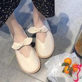 娃娃鞋 小皮鞋女春秋韓版百搭蝴蝶結圓頭軟底豆豆鞋娃娃鞋單鞋