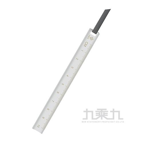 Ruler & Bookmark 不銹鋼書籤尺10cm-灰 RA010-8SS