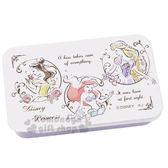 〔小禮堂〕迪士尼 公主 造型貼紙附鐵盒《紫白.素描》裝飾貼.黏貼用品 4991277-07460