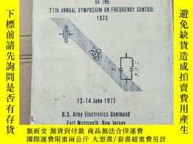 二手書博民逛書店proceedings罕見of the 27th annual symposium on frequency co