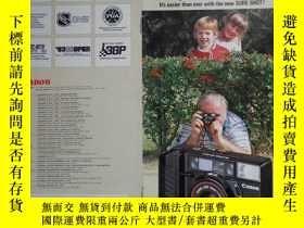 二手書博民逛書店CANON罕見SURE SHOT CAFS佳能自動對焦電子照相機產品樣本 1984年奧運會版 36開10頁 英