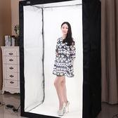 專業LED200CM攝影棚套裝服裝人像柔光箱攝影燈箱拍照器材道具