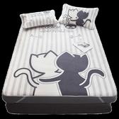 床包組 涼席1.8m床折疊冰絲席三件套夏季單人雙人空調軟席子