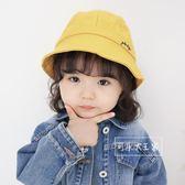 兒童男女童漁夫帽遮陽小黃帽盆帽太陽帽寶寶春秋防曬幼兒園帽子潮