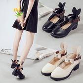 公主洛麗塔鞋子女學生可愛單鞋圓頭文藝百搭中跟學院軟妹小皮鞋『櫻花小屋』