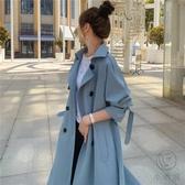 風衣女中長款小個子韓版寬鬆春秋氣質流行外套【小酒窩服飾】