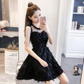 洋裝 夏季衣服女2019新款韓版夜場女裝夏天裙子性感顯瘦法國小眾洋裝 4色S-XL