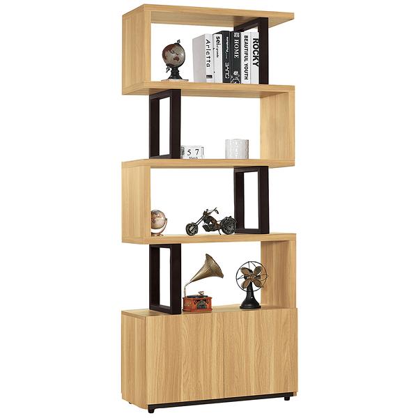 【森可家居】費德勒2.64尺雙面櫃(單) 10ZX391-4展示 隔間 客廳收納 開放式書櫃架 木紋質感 北歐風