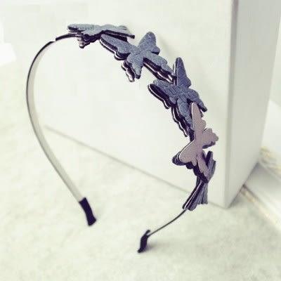髮圈(任兩件)-優雅艷麗蝴蝶造型女髮箍2色73gi44[時尚巴黎]