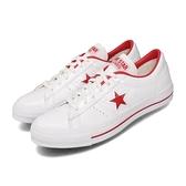 Converse 休閒鞋 One Star HanByeol 白 紅 男鞋 女鞋 皮革鞋面 經典款 基本款 運動鞋 【ACS】 167326C