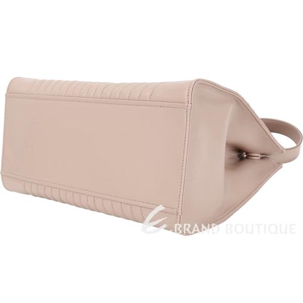PRADA Diagramme 絎縫小牛皮手提肩背托特包(粉裸色) 1820469-32