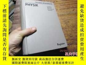 二手書博民逛書店physik罕見register english deutsch