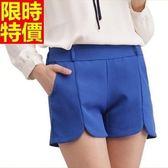 西裝短褲細緻迷人-休閒糖果色鬆緊帶舒適女褲子3色66ai36【巴黎精品】