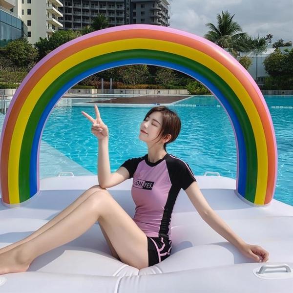 泳衣女兩件套分體式保守顯瘦遮肚學生大碼溫泉韓國ins仙女范泳裝 【Ifashion】