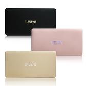 [富廉網] 【INGENI】10000series 超薄金屬質感 雙輸出行動電源 鋼琴黑/玫瑰金/香檳金