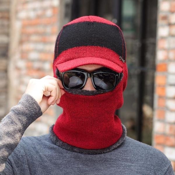 毛帽針織帽帽子男秋冬正韓潮針織毛線帽加絨加厚冬天保暖護耳防寒包頭帽棉帽